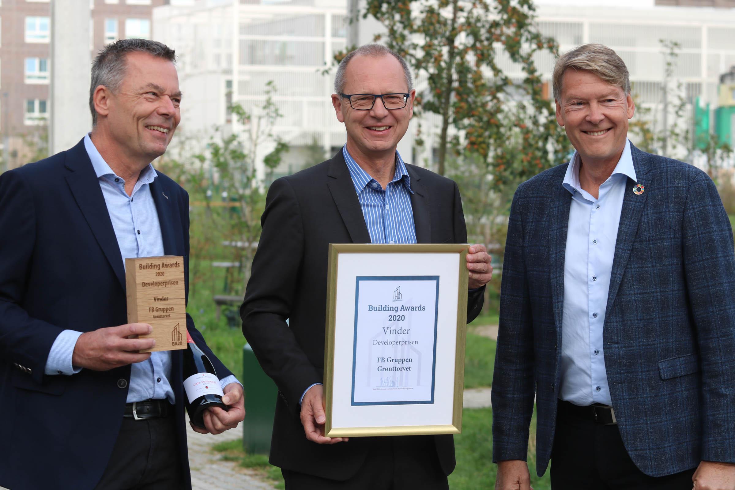 Stig Nørnberg og Hans-Bo Hyldig FB Gruppen Claus Bering Dansk Byggeri Developerprisen 2020